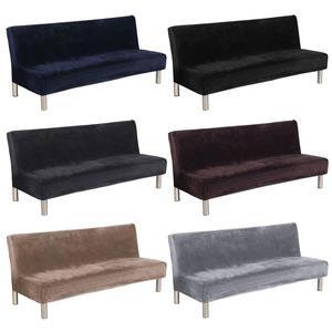 Image 2 - Новый высококачественный удобный толстый плюшевый чехол для дивана, чехол с полным покрытием, раскладной диван кровать без подлокотника, оптовая продажа