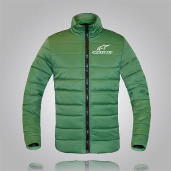 Alpinestars Men Parka Cotton Padded Winter Jacket Coat Mens Warm Jackets Male Stand Collar Zipper Coats Down Jacket Parkas цена 2017