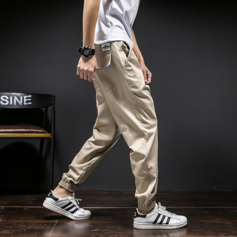 Chao Ge Men's Trousers Autumn And Winter New Style Men Slim Fit Ankle Banded Pants Large Size Closing Harem Pants Fashion Casual