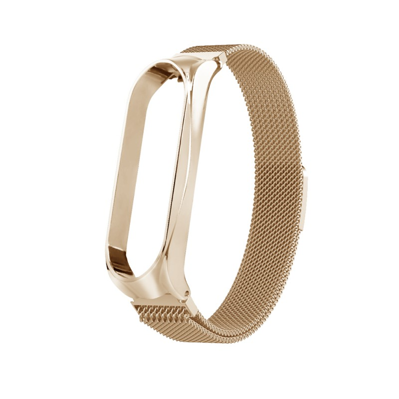 Watchband Replacement Stainless Steel Metal Smart Bracelet Magnet Adsorption Strap For Xiaomi Band 3/ 4