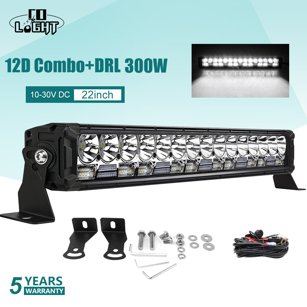 CO LIGHT 12D Led Light Bar 120W 180W 300W 480W 600W 840W Combo DRL For 4x4 Off Road ATV UAZ Truck 12V 24V Led Work Lights Barra