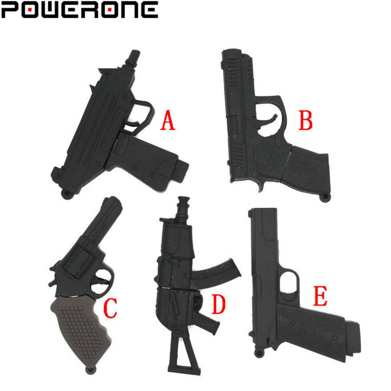 POWERONE Submachine Gun Usb Creativo Usb 2.0 Memory Stick Usb Flash Drive Pistl AK 47 Pendrive 4gb 8gb 16gb 32gb 64gb U Disk