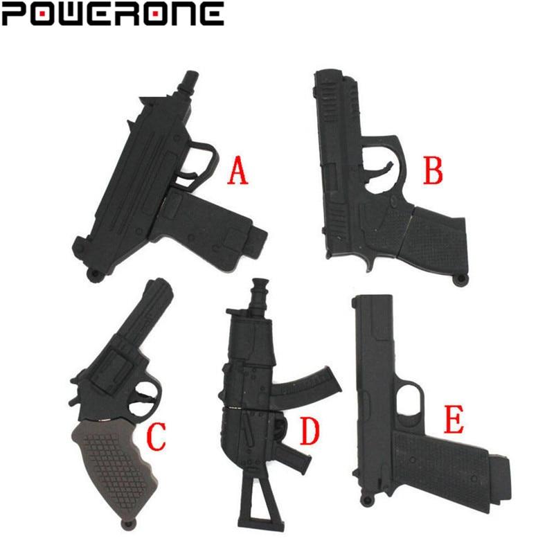 POWERONE Submachine Gun Usb Creativo Usb 2.0 Memory Stick Usb Flash Drive Pistl AK 47 Pendrive 4gb 8gb 16gb 32gb 64gb U Disk