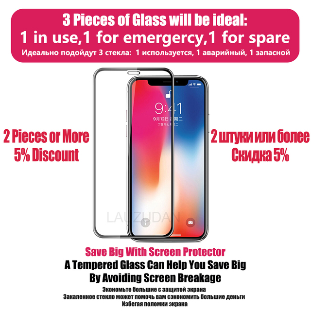 Protective tempered glass for iphone 7 8 plus X XR XS max 11 12 pro Max glass iphone 7 8 x screen protector glass on iphone 6s 7 2