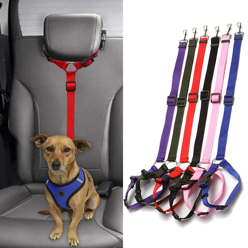 Pet Produkte Universal Praktische Hund Katze Sicherheit Einstellbare Auto Sitz Gürtel Harness Leine Welpen Sitz-gürtel Reise Clip Strap führt