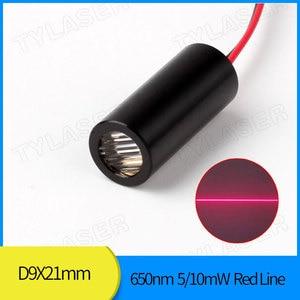 Лазерный модуль с красной линией 9 мм 650nm 5mW 10mw, драйвер APC промышленного класса