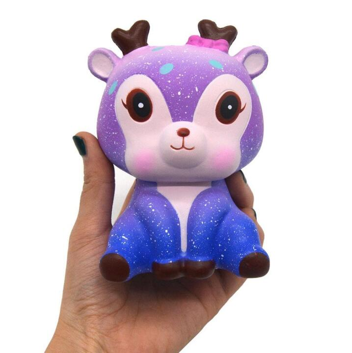 Decompression Squeeze Toy Best Christmas Birthday Gift Galaxy Cute Kawaii Cartooon Deer Cream Scented Squeeze Star Fawn Squishy