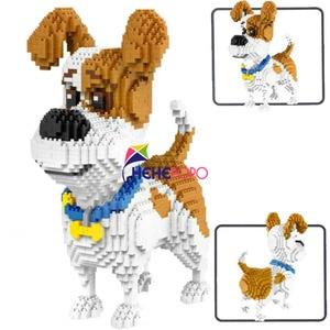 Image 1 - 2000 + szt. 16013 Mike Dog Building Blocks diamentowe mikro małe elementy pisownia zabawkowe zwierzątko Dog Block zabawki modele dla dzieci prezenty