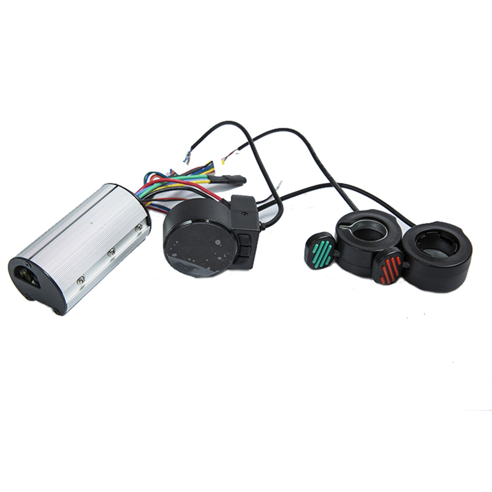El más nuevo modelo 24v 36v 48v plegable Scooter controlador accesorios fibra de carbono Scooter controlador Acelerador de freno LCD unidad