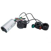صغيرة مستديرة دراجة سكوتر كهربائية تحكم الفرامل LCD وحدة ألياف الكربون سكوتر وحدة تحكم المحرك 24 فولت 36 فولت 48 فولت 250 واط 350 واط