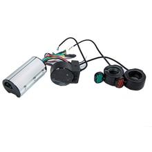 Mini Round Electric Bike Scooter Controller Brake LCD Unit Carbon Fiber Scooter Motor Controller 24v 36v 48v 250w 350w