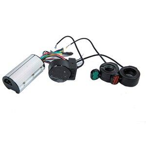 Image 1 - Mini Round Electric Bike Scooter Controller Brake LCD Unit Carbon Fiber Scooter Motor Controller 24v 36v 48v 250w 350w