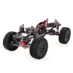 1/10 Cool Racing CNC Aluminum and Carbon Frame AXIAL SCX10 Chassis 313mm Wheelbase Gun Metal Excellent Quality RC Accessories