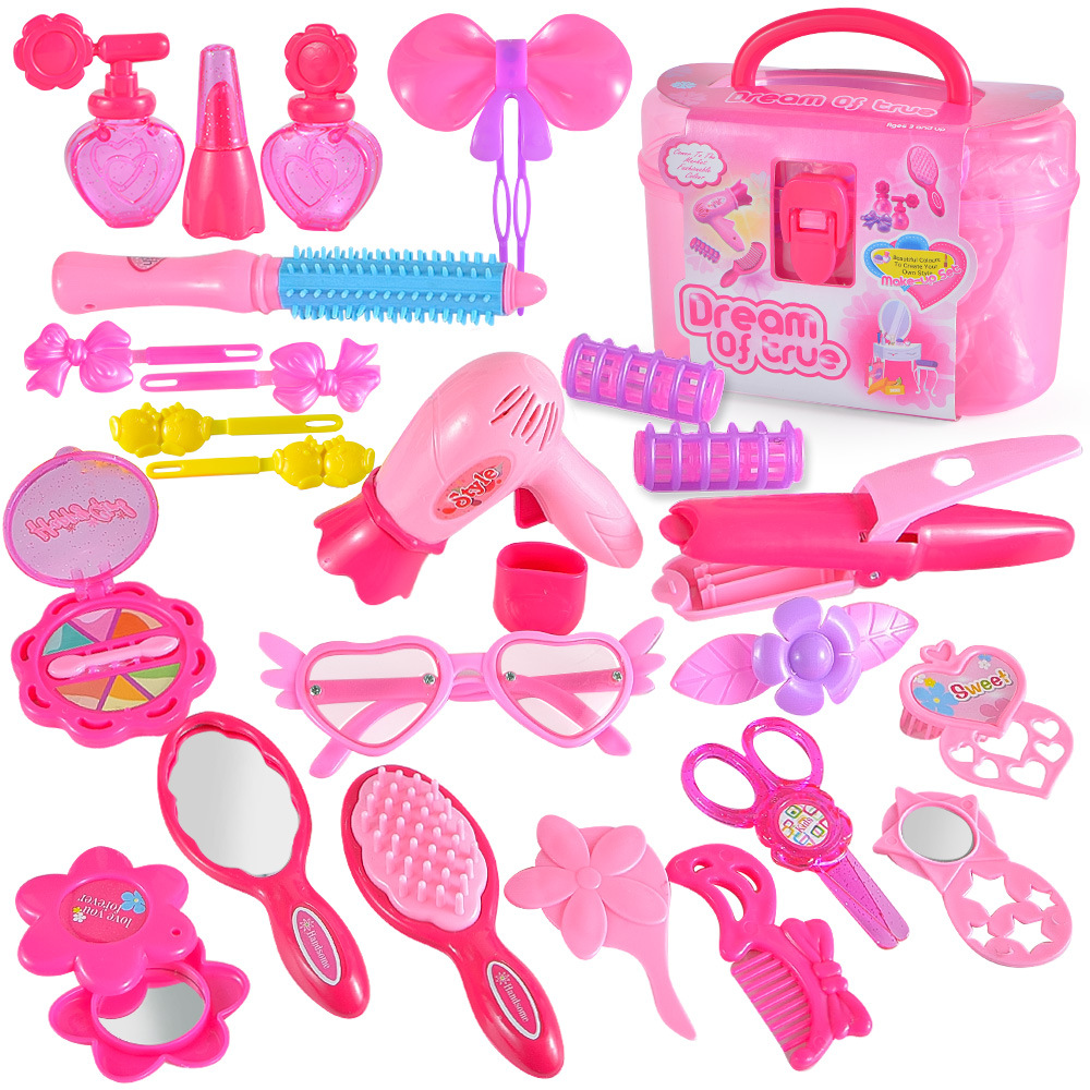 Pretend-Play-Kids-Makeup-Toys-Beauty-Handle-Box-Children-Make-Up-Set-Hairdressing-Simulation-Set-Dre (1)