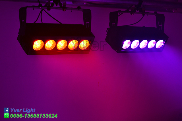 2 Pcs/Lot étanche LED barre 5X20W RGB 3IN1 Point Pixel contrôle lavage effet lavage applique murale pour DJ Disco fête de mariage Club lumière