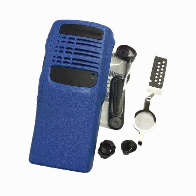 غطاء مبيت أزرق لراديو Motorola GP340 ، غطاء أمامي ، غطاء غبار ، طقم إصلاح