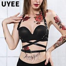 UYEE – harnais en cuir pour femmes, Lingerie Sexy, ceinture, jarretelles réglables, bretelles érotiques pour la taille