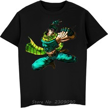 Jojos Bizzare Aventure Bataille Tendance Joseph Joestar T-shirt Homme T-shirt Gris Coton O-cou Tshirt Anime Tees Hauts Harajuku
