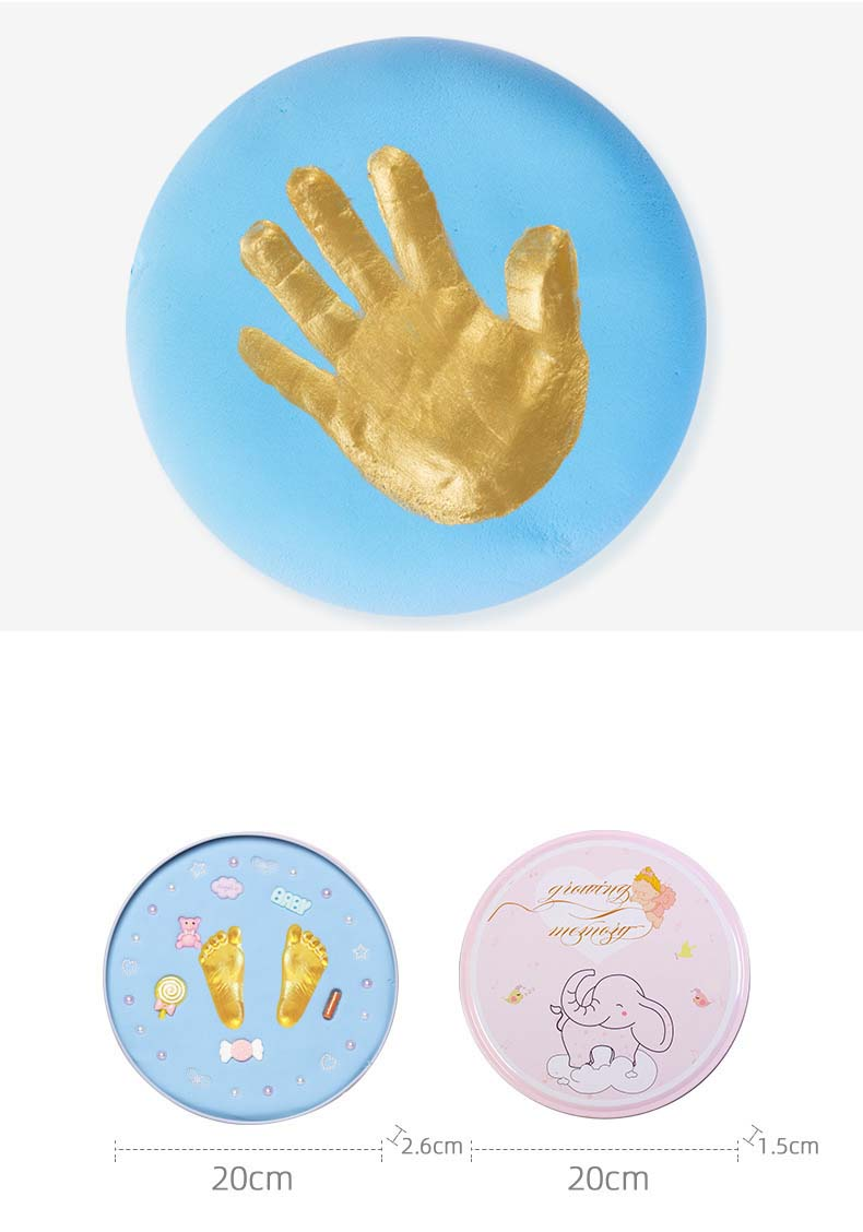 Baby Growing Up Memorial Baby Handprint Mud Baby Souvenirs Baby Hand And Foot Mold Hundred Days Gift Baby Hand Print Footprint