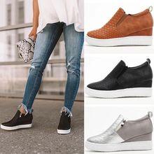 womens sneakers shoes 2019 fashion  women casual woman Inside high heel white zapatos de mujer