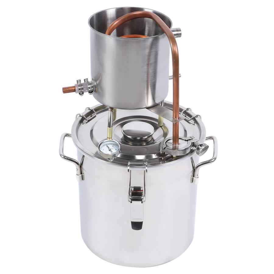 12л дистилляционное ведро домашний дистиллятор медная трубка спирт вода вино