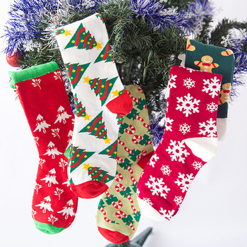 2020 Brand New Christmas series cartoon socks cute middle stocking cotton personalized lovers Gift Socks Size37-42 High quality цена 2017