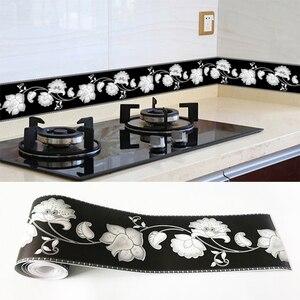 PVC Self-Adhesive Waterproof 3D Wall Sticker Kitchen Bathroom Kicking Line Waistline Wallpaper Borders Removable Stickers Decor