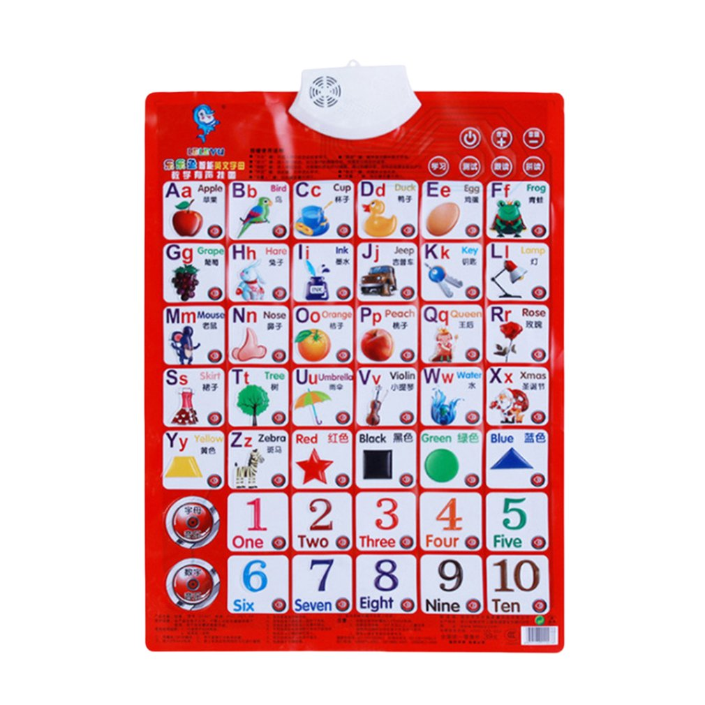 Sound Wall Chart Electronic Alphabet English Learning Machine Multifunction Preschool Toy Audio Digital Educational Toy Children