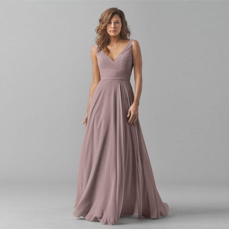 Eightale Evening Dresses V-Neck Pleats A-Line Evening Gown Chiffon Party Prom Dresses Mother Of The Bride Dresses Robe De Soire