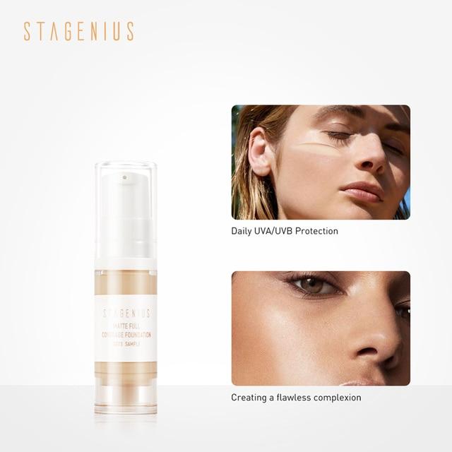 STAGENIUS Face Foundation Stick Makeup Oil-control Full Coverage Liquid Moisturizing Concealer Waterproof Base Foundation 2