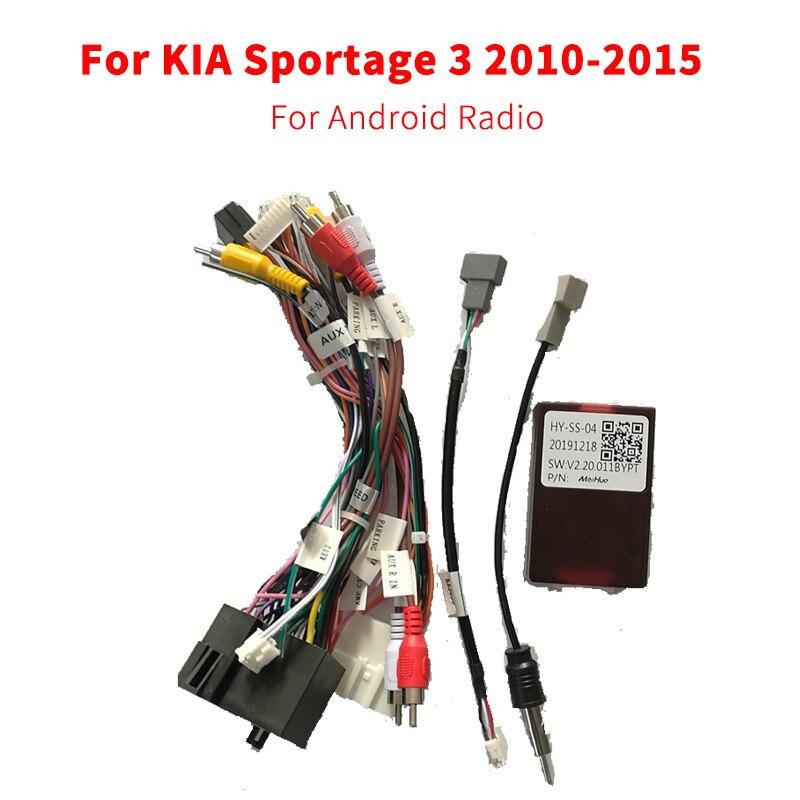 Автомобильные аксессуары для радиоприемника на Android, переходник для проводки, штекер 16Pin для KIA Sportage 3 2010-2015