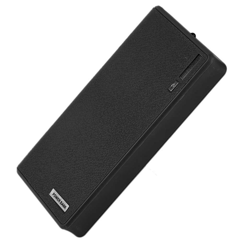 18000mAh 6*18650 caja del Banco de energía sin batería portátil Dual USB de carga rápida banco de energía cargador de batería externa banco de fuente de alimentación