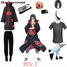 Anime cosplay costumes Naruto Akatsuki Uchiha Itachi Halloween from men all suits Cloak wig