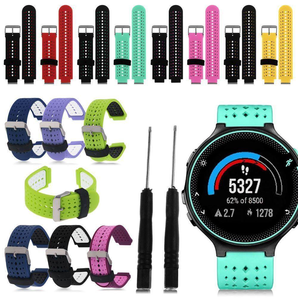 Replacement Sports Dual Silicone Wristbands Watch Strap Band For Garmin Watch Approach S6 Forerunner 235/220/230/620/630/735