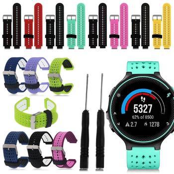 Wymiana sport podwójne silikonowe opaski na rękę pasek do zegarka dla Garmin Watch Approach S6 Forerunner 235/220/230/620/630/735