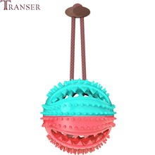 Transer Round Ball Teeth Clean Pet Dog Toy Food Storage Chew Bite Pet Train Toys for Small Medium Large Dogs 201(China)