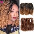SAMBRAID 8 дюймов страстные курчавые плетеные крючком косы Marlybob для волос синтетические плетеные волосы для наращивания Marley для афроженщин
