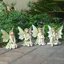 Garden-Decoration Ornaments Crafts Flower Fairy Fairy-Tale Home-Accessories Resin Girl