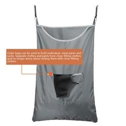 Wiszący kosz na bieliznę drzwi wiszące kosz na pranie wiszący worek na pranie nad drzwiami kosz na pranie wiszący kosz na pranie w Składane torby do przechowywania od Dom i ogród na
