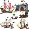 Enlighten Building Block Pirates And Royal Guards Battle Castle 366pcs Educational Bricks Toy For Boy Christamas Gift 310