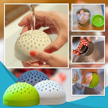Multi-use Portable Micro Kitchen Colander Can Drainer Lid Fast Fuss-free Cooking Food Grade Silicone Dishwasher Safe image