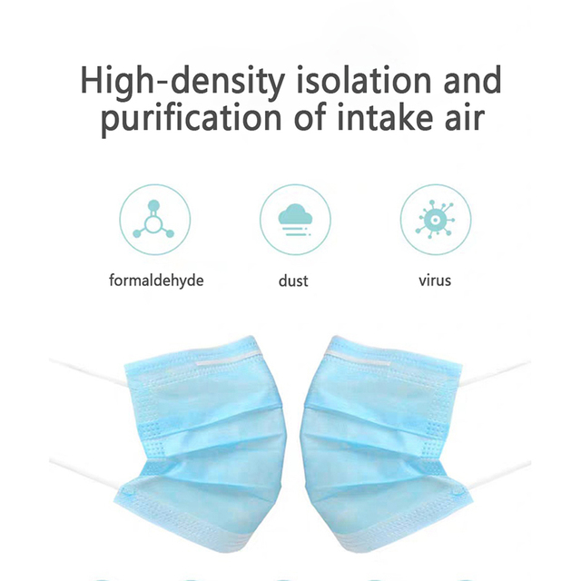 1PC Disposable Dust Face Masks PM2.5 Anti Flu Breathing Safety non-woven Fabrics Mask 2