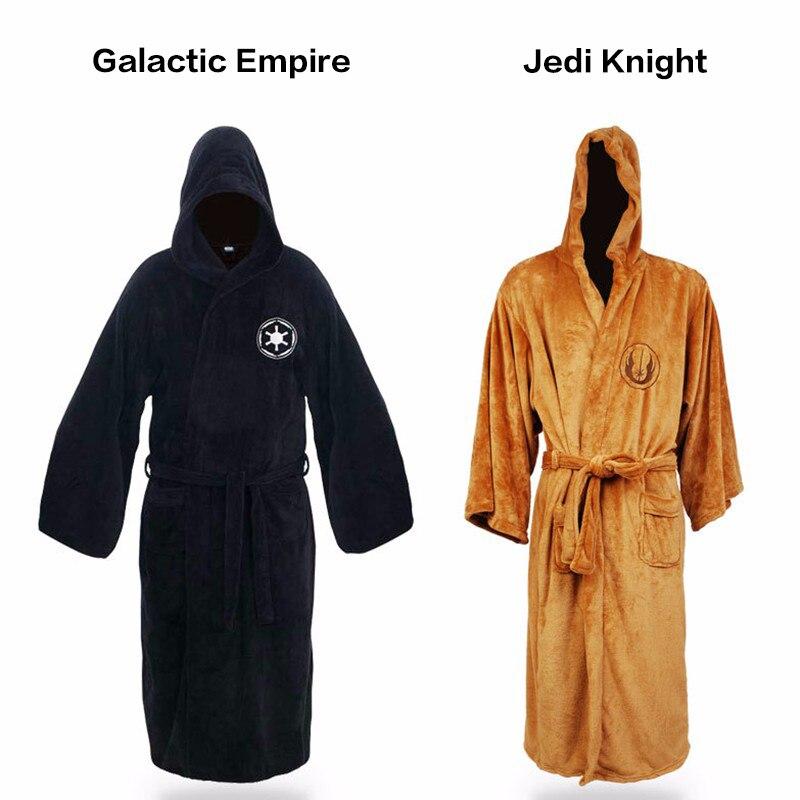 Adult Pajamas Star Wars Darth Vader Flannel Terry Jedi Bathrobe Robes  Costume Halloween Cosplay Hombre Ropa De Dormir