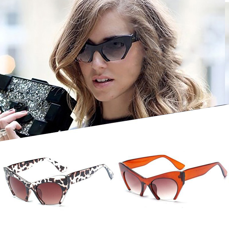 Leopard Cat Eye Glasses Ladies Summer Outdoor Personalized Fashion Sunglasses Accessories
