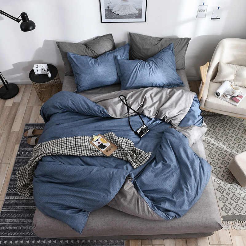 us size duvet cover set drop shipping bedding set 229 259cm customized duvet cover pillowcase blue grey pink queen size bed set