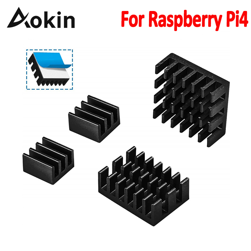 Aokin For Raspberry Pi 4B Heat Sink Aluminum Heatsink Radiator Cooler Kit For Raspberry Pi 4