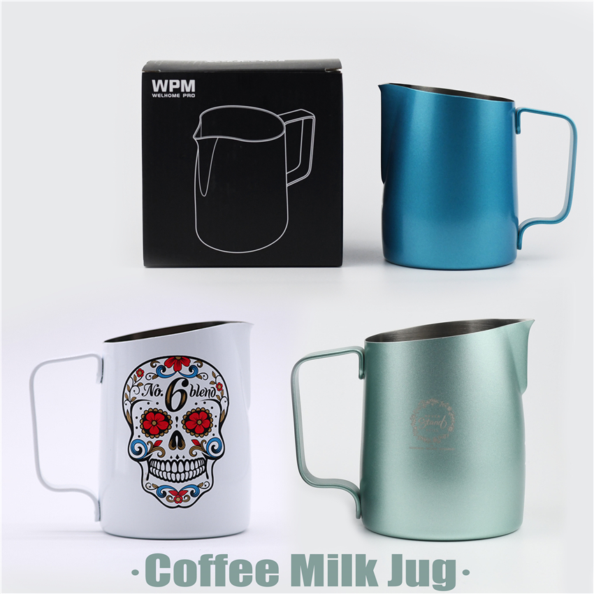 Coffee Milk Jug Stainless Steel Frothing Pitcher Pull Flower Cup Coffee Milk Frother Latte Art Milk Foam Tool Coffeware