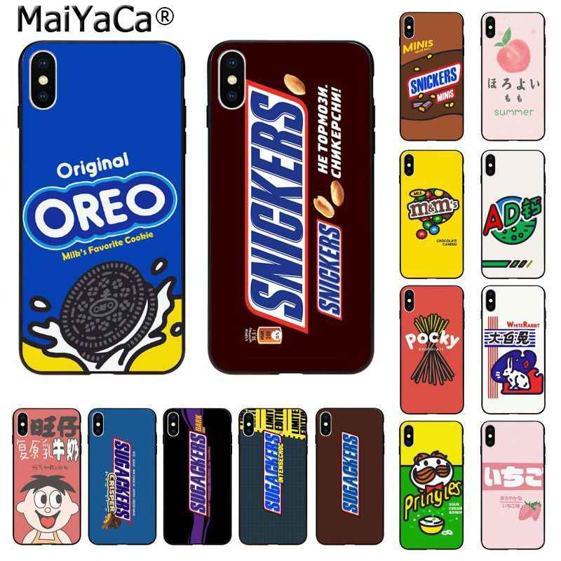 MaiYaCa Chocolate biscuit milk drink TPU Silicone Black Phone Case for Apple iphone 11 pro 8 7 66S Plus X XS MAX 5S SE XR Cases