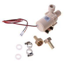 Güneş su pompası 12V DC sıcak su pompası 300mm sirkülasyon Pompe fırçasız Motor yüksek basınç pompası gıda sınıfı pompa