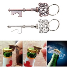 2x Set Creative Key Shaped Bottle Opener Keychain Shaped Key Ring Beer Bottle Opener Unique Gift shark shaped bottle opener keychain zinc alloy silver color key ring beer bottle opener unique creative gift cute key chains